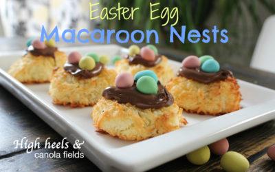 Easter Egg Macaroon Nests